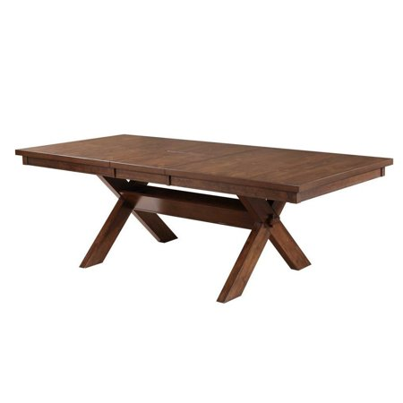 Roundhill Furniture Karven Butterfly Leaf Extension Dining Table