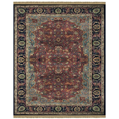 Astoria Grand Barcroft Hand-Tufted Wool Brown Area Rug