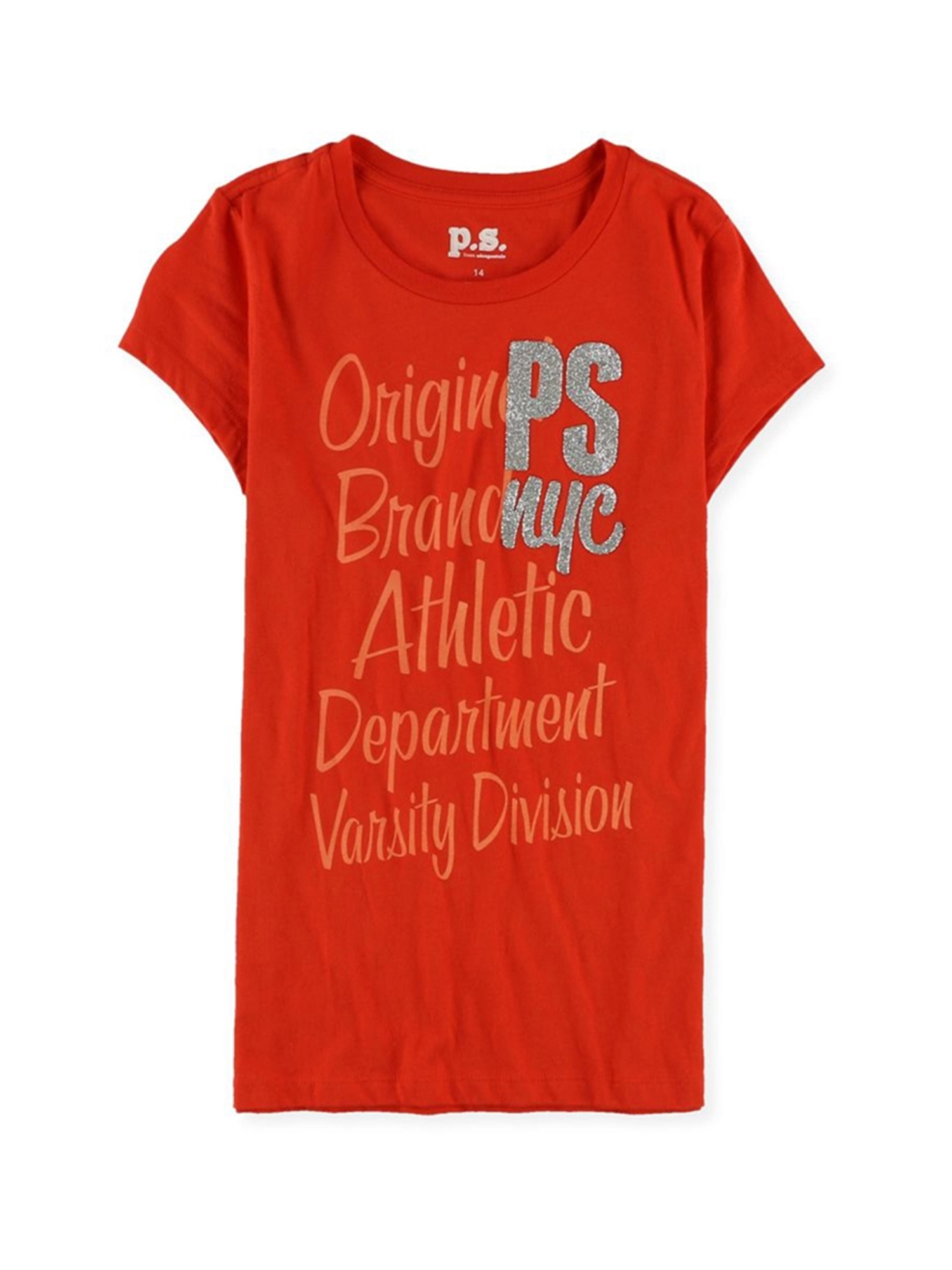 Aeropostale Girls Glitter Nyc Graphic T-Shirt