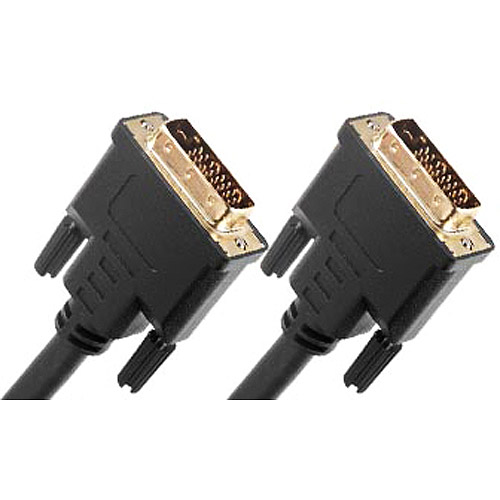 Link Depot 10' Gold Plated DVI-D Male to DVI-D Male Dual Link Cable