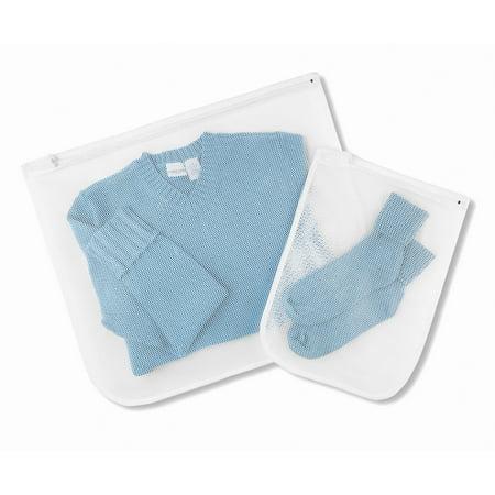 Whitmor Mesh Wash Bags White Set of 2