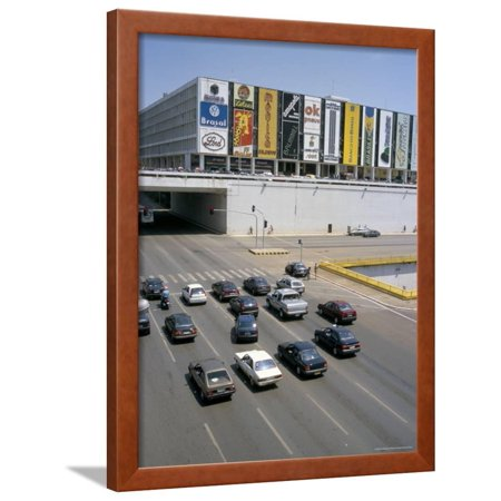 Downtown, Main Thoroughfare and Shopping Mall, Brasilia, Brazil, South America Framed Print Wall Art By Geoff (South Plain Mall)