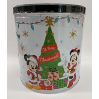 Signature Brands Mickey Minnie 24 Oz Holiday Popcorn Tin