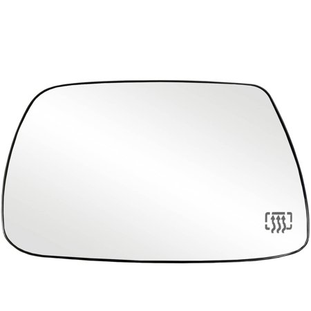 33265 - Fit System Driver Side Heated Mirror Glass w/ backing plate, Jeep Grand Cherokee 05-10, 5 1/ 16