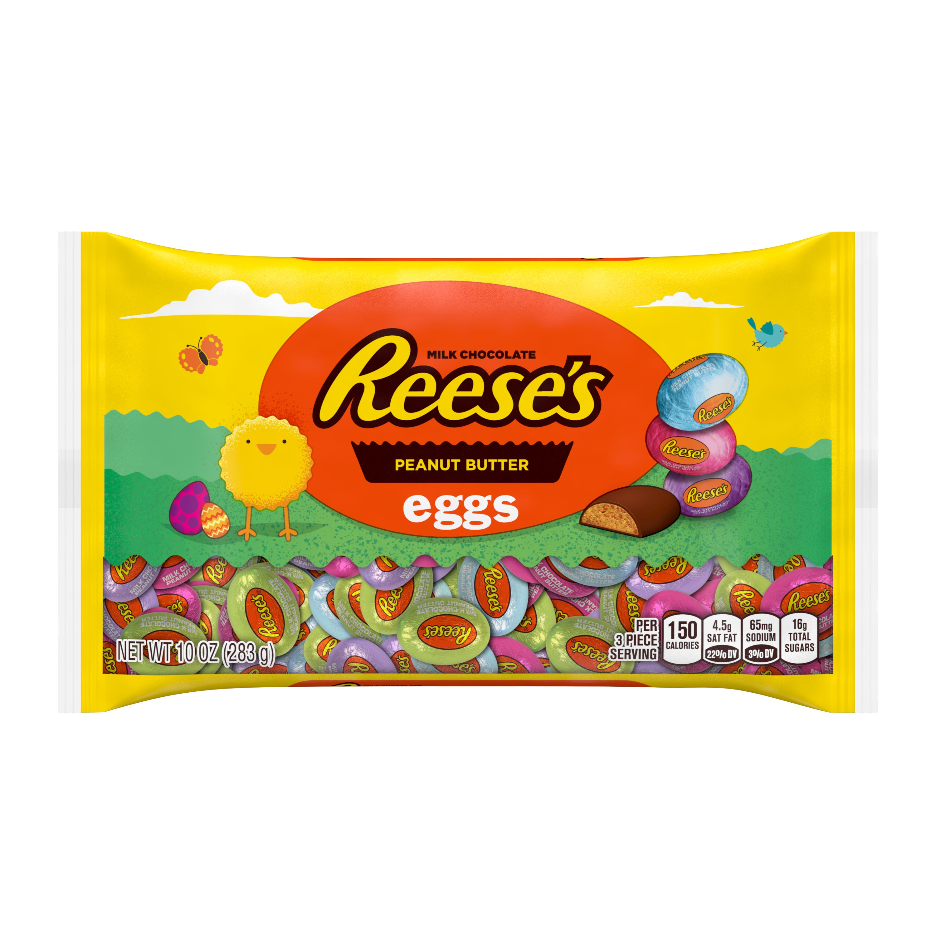 REESE'S, Milk Chocolate Peanut Butter Eggs Candy, Easter, 10 oz, Bag