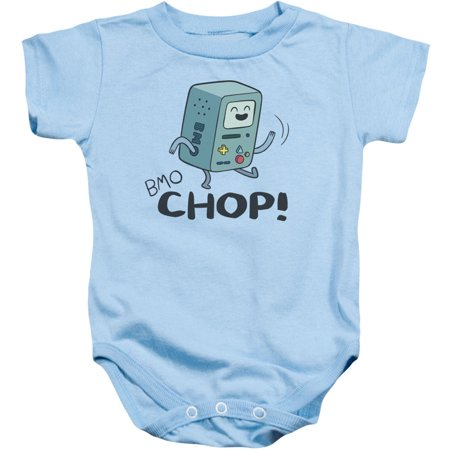 Adventure Time Boys' Bmo Chop Bodysuit Light Blue