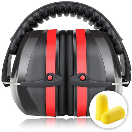 Fnova 34dB Highest NRR Safety Ear Muffs - Professional Ear Defenders for Shooting, Adjustable Headband Ear Protection / Shooting Hearing Protector Earmuffs Fits Adults to Kids, (Best Hearing Protection For Shooting)