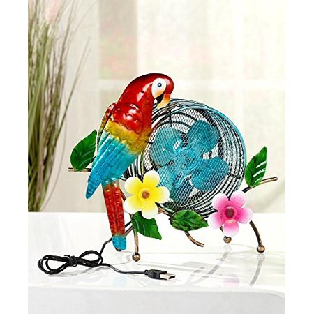 the lakeside collection metal usb desk fan