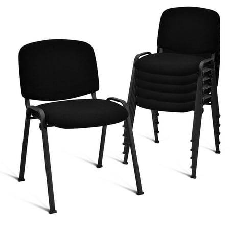 Costway Set of 5 Conference Chair Elegant Design Office Waiting Room Guest Reception ()