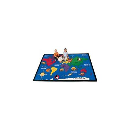 Carpets for Kids World Explorer Geography Area Rug - 99.96