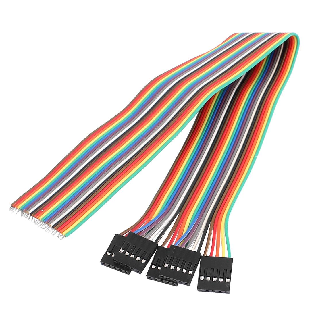 5 Pcs 30cm Length Female 2.54mm Pitch 5P Single Head Jumper Wire Cable