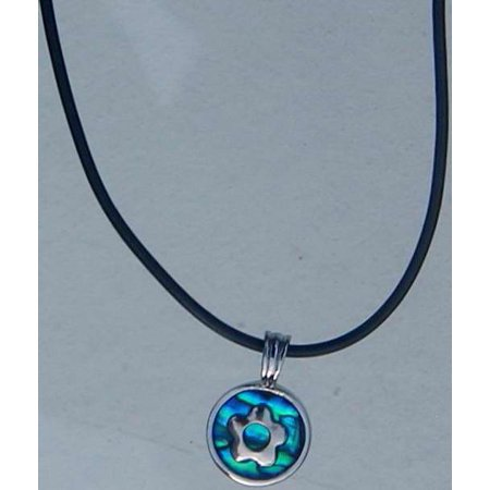 Necklace-Blue Paua Shell-Flower
