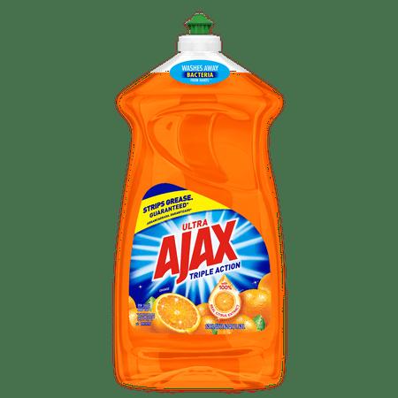 Acting Liquid - Ajax Ultra Triple Action Dishwashing Liquid Dish Soap, Orange - 52 fluid ounce