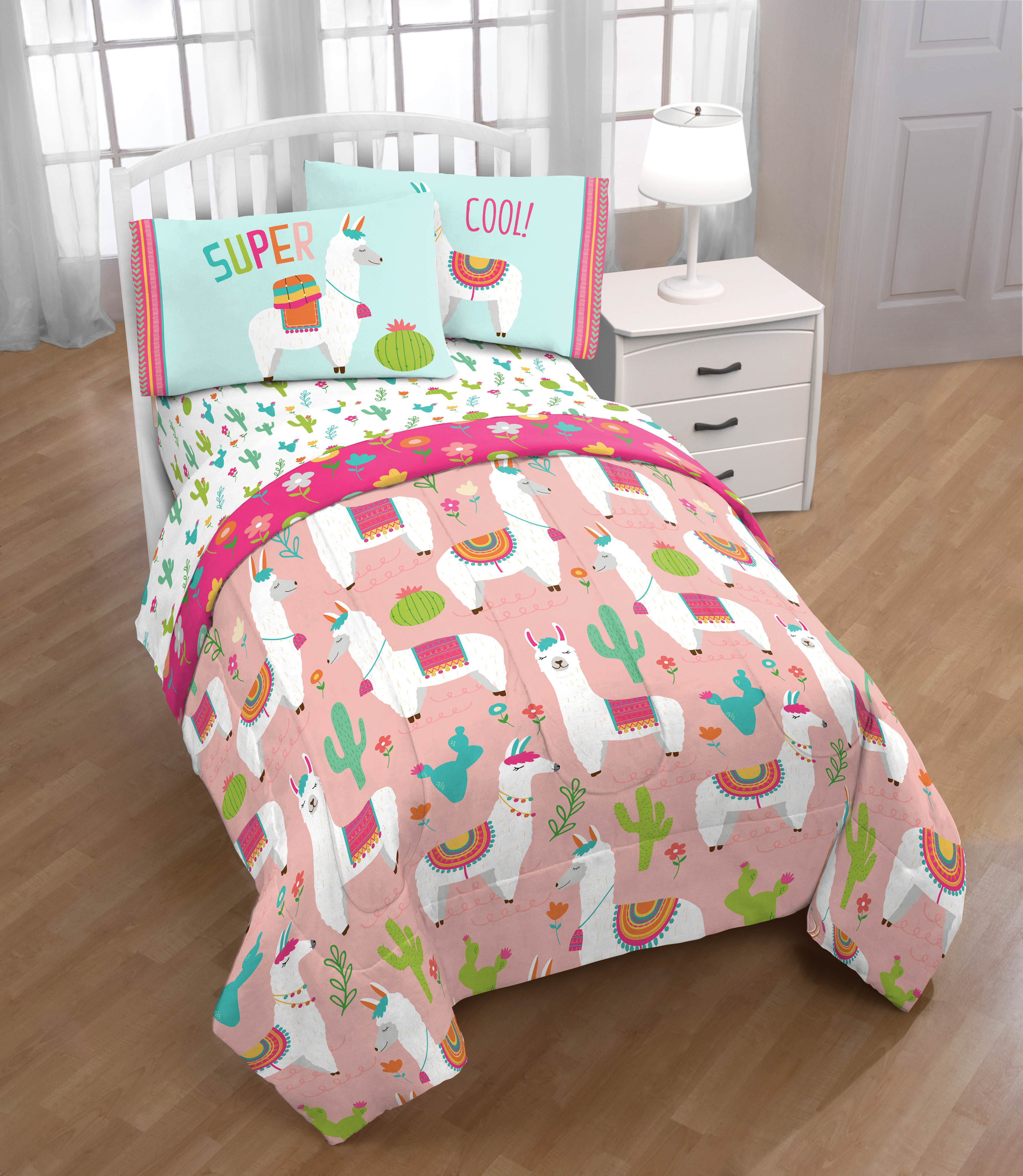 Limited Too Pink Llama Love Twin Bed In A Bag Bedding