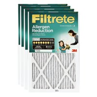 Filtrete 15x20x1, Allergen Reduction HVAC Furnace Air Filter, 1200 MPR, Pack of 4 Filters