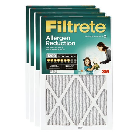 Filtrete 15x20x1, Allergen Reduction HVAC Furnace Air Filter, 1200 MPR, Pack of 4 (Filtrete 1200 Odor Reduction Air And Furnace Filter)