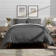 Bare Home Luxury 3 Piece Duvet Cover and Sham Set - Premium 1800 Ultra-Soft Brushed Microfiber - Easy Care, Wrinkle Resistant (King, Light Blue)
