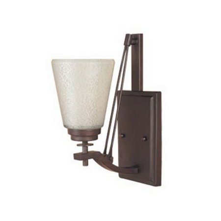GHP Home & Garden 13''H Tuscana Finish & Ivory Pearl Glass 1 Light Wall (Pearl Glass Wall)