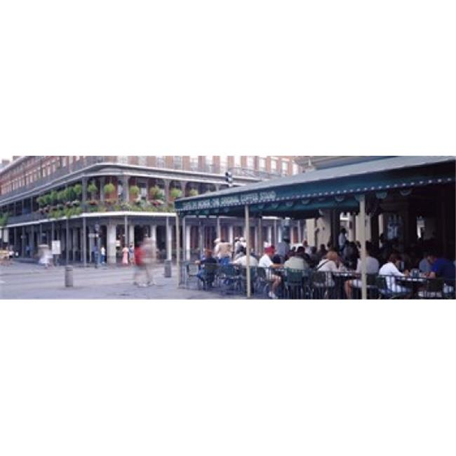 Panoramic Images PPI71856L Cafe du Monde French Quarter New Orleans LA Poster Print by Panoramic Images - 36 x 12