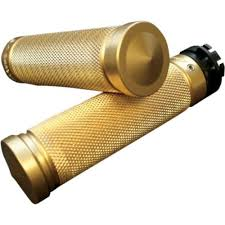 Accutronix Grips Knurled Brass Fits 09-14 Harley-Davidson XL883N Sportster Iron
