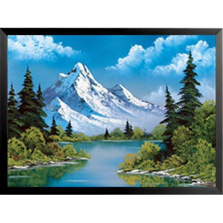 Buyartforless FRAMED Power Landscape Painting by Bob Ross 24x18 Art Print Poster - The Joy of -