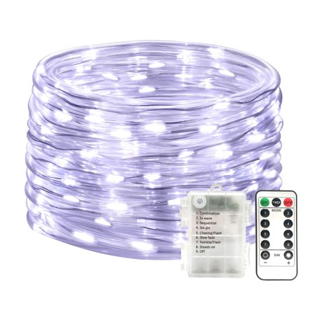 5 Pack Outdoor String Lights 100led 33ft New Battery