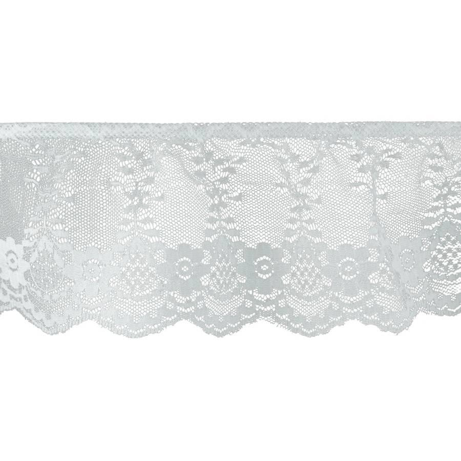 "Ruffled Fancy Lace Trim 3- 1/8"" x 18yd - White"