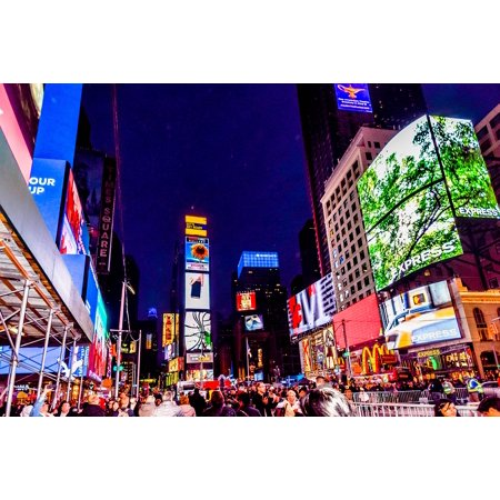 Canvas Print City New York Manhattan Square Times Square Stretched Canvas 10 x 14 (Halloween New York Times Square)