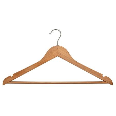 Wood Suit Hangers - 30 Pack, Natural