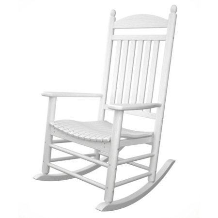 recycled earth friendly kennedy outdoor patio rocking chair white. Black Bedroom Furniture Sets. Home Design Ideas