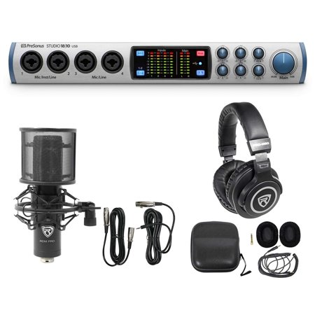 presonus studio 1810 18x8 usb audio recording interface microphone headphones. Black Bedroom Furniture Sets. Home Design Ideas