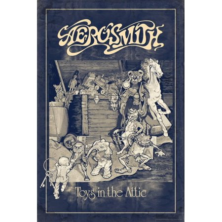 Aerosmith - Toys in the Attic (Blue) Laminated Print Wall Art