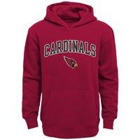 Youth Cardinal Arizona Cardinals Clear Gel Fleece Hoodie