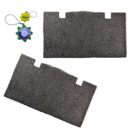 HQRP 2-pack Foam Air Filter for Dometic Duo Therm Brisk Air 57908, 57912, 57915, 59016, 59136 Series Roof Top Air Conditioners & Heat Pumps + HQRP UV Meter