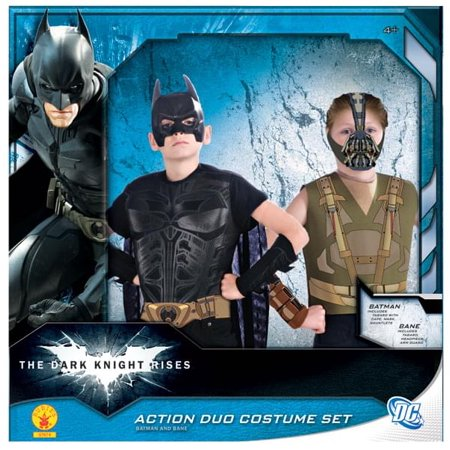 Batman & Bane Action Duo Costume Box Set Child One Size - Halloween Duo Ideas For Friends