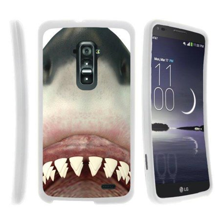 TurtleArmor ® | For LG G Flex D959, D958, D950 [Slim Duo] Two Piece Hard  Cover Slim Snap On Case - Shark Teeth