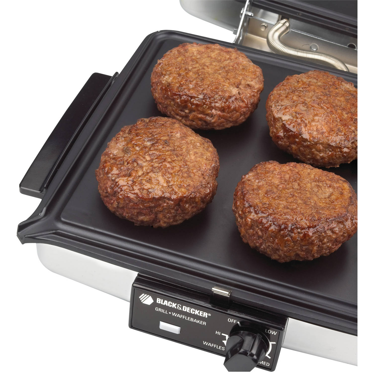 Sanduchera BLACK+DECKER 3-in-1 Waffle Maker  Indoor Grill, Griddle, G48TD + Hamilton Beach en VeoyCompro.net