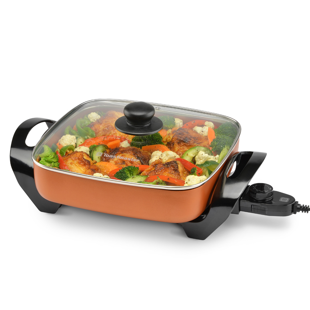 "Toastmaster 11"" Electric Copper Skillet"