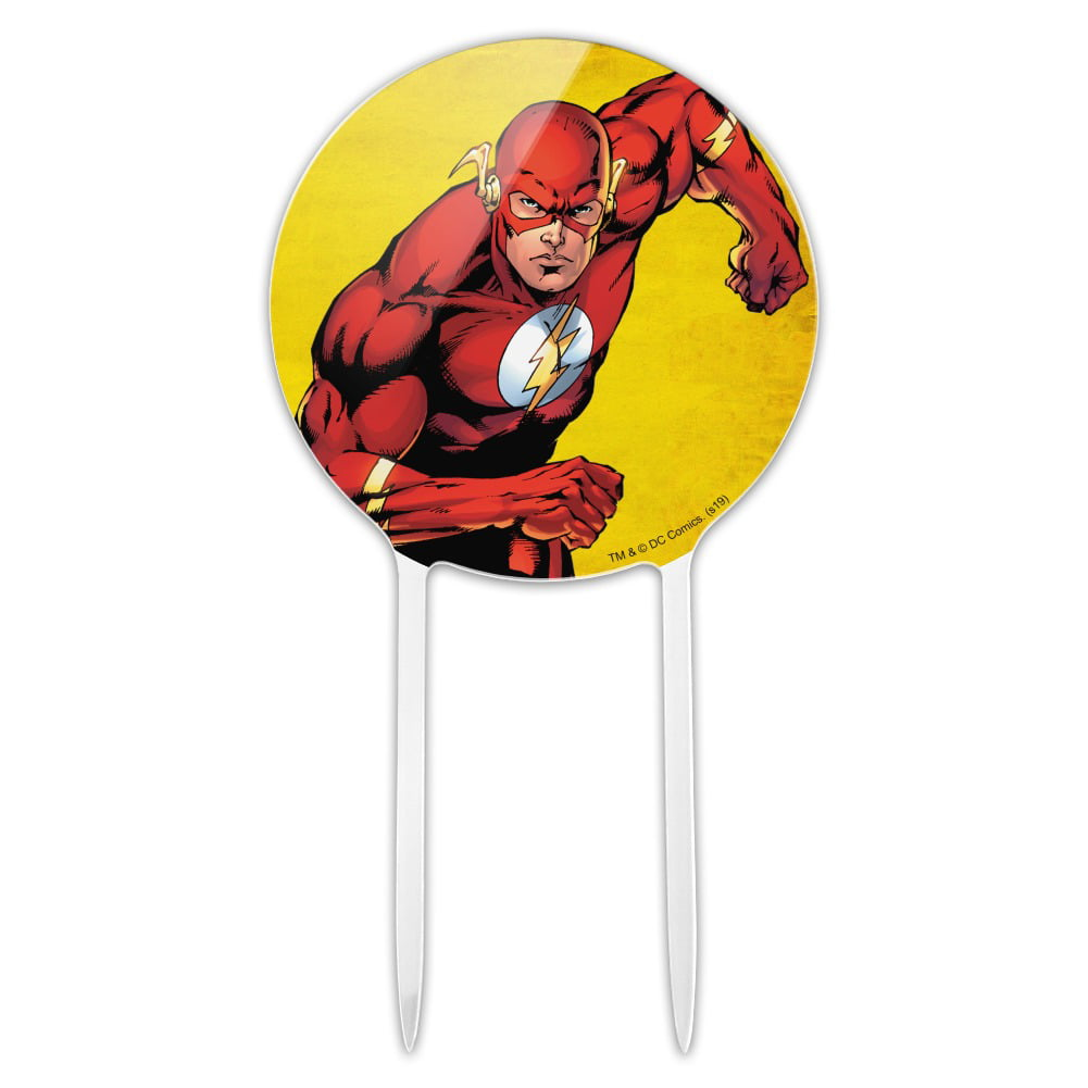 Acrylic The Flash Character Cake Topper Party Decoration ...