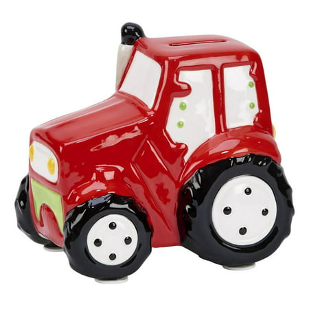 "Red Truck Bank 5.75"" x 5.75"" Ceramic"