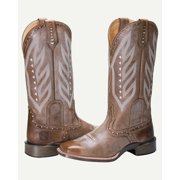 Noble Outfitters Western Boot Women Vintage All Around Tan 66031