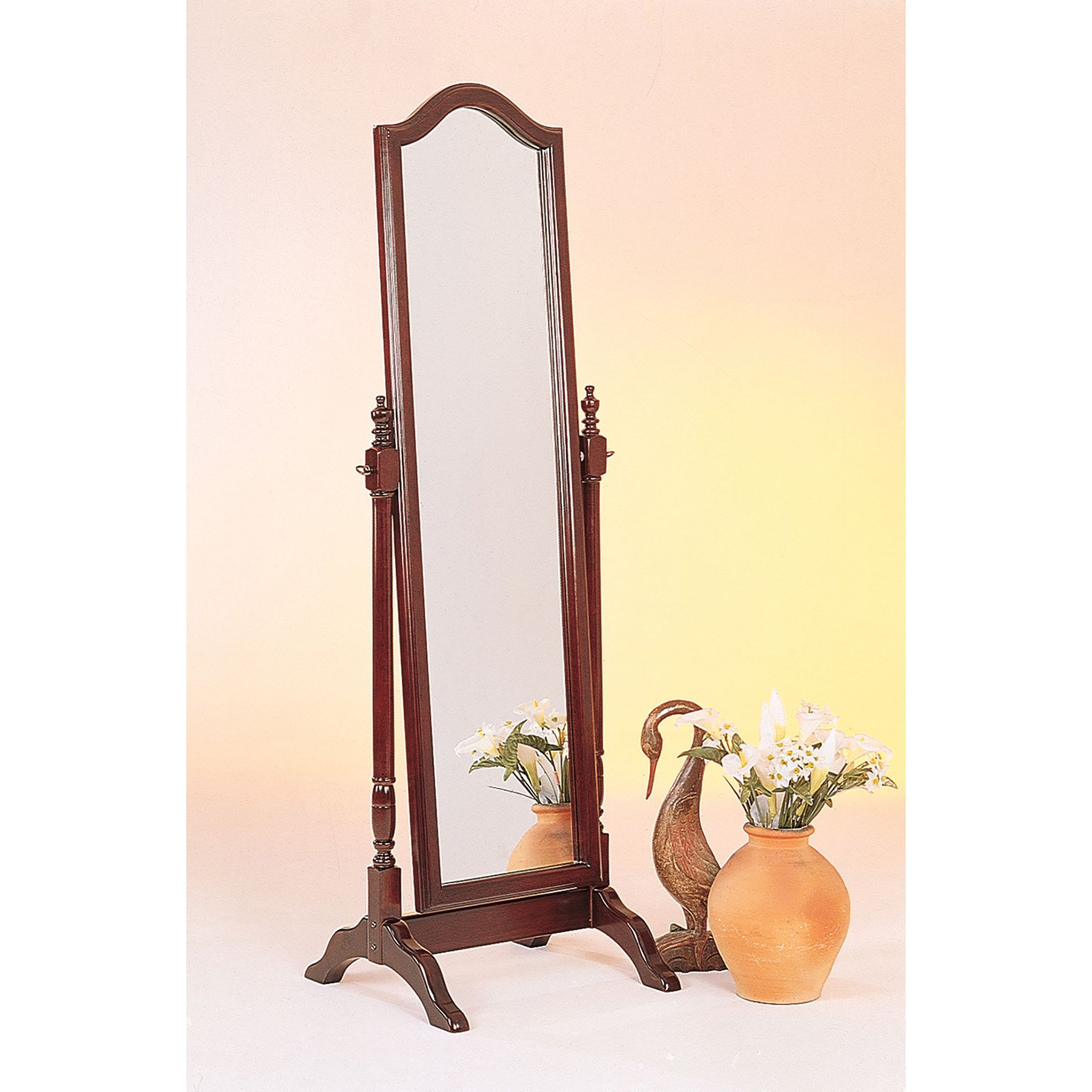 Coaster Cheval Mirror, Brown/red Finish
