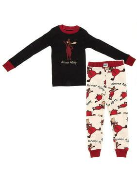 Lazy One Almoose Asleep Cotton Boys Pajamas