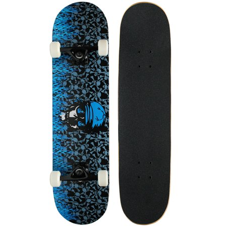 - PRO Skateboard Complete KROWN Blue Flame 7.75 in - FREE SHIPPING