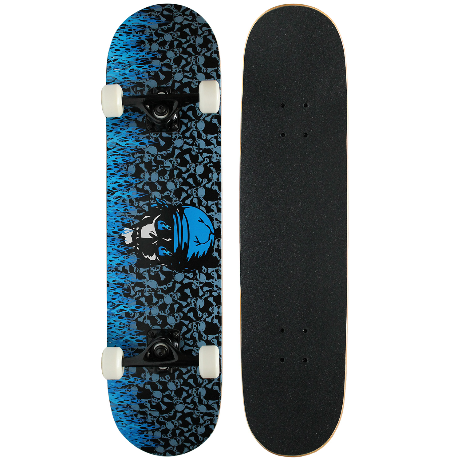 PRO Skateboard Complete KROWN Blue Flame 7.75 in - FREE SHIPPING