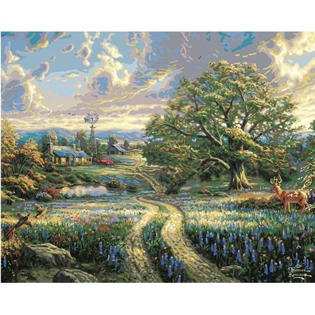 Plaid thomas kinkade country living paint by number kit for Country living customer service number