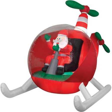 Helicopter Santa Airblown Christmas Decoration - Christmas Theme Party Decorations