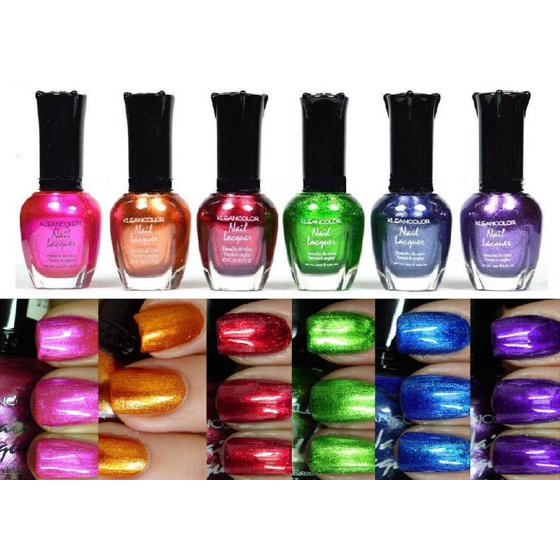 Kleancolor Collection- full size METALLIC LOT Nail Polish 6pc Set ...