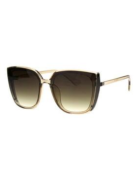 4639e032744f Product Image Womens Squared Oversize Rectangular Cat Eye Chic Diva Sunglasses  Black Green Mirror