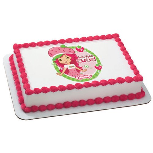 Image of Strawberry Shortcake - Tutti Fruitti Edible Image Cake Topper Party Accessory